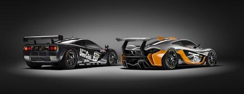 McLaren P1 GTR och F1 GTR