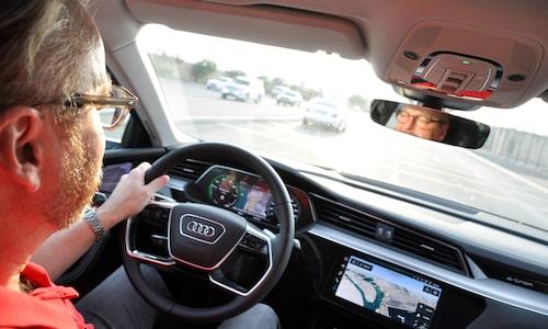 Lite egen men ändå tydlig Audi-interiör.