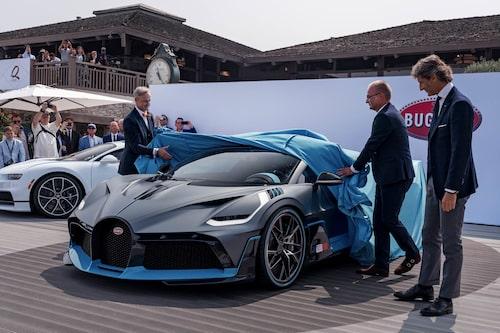 """Divo täcktes av under tillställningen The Quail: A Motorsports Gathering"""" i Kalifornien."""