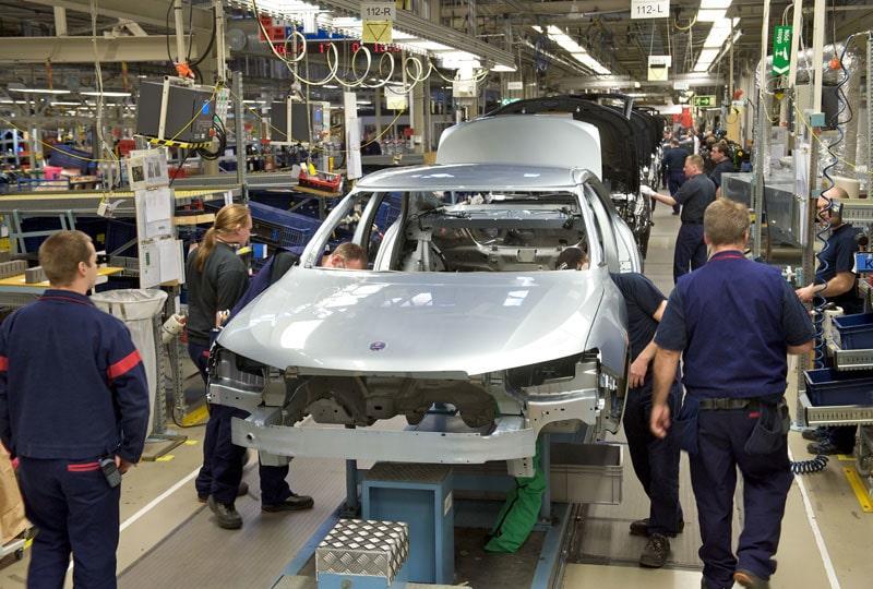 Saab-fabriken i Trollhättan