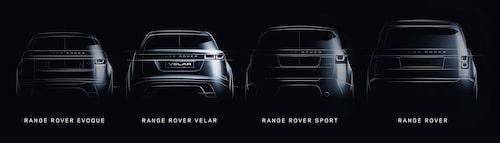 Fyrtal i Range Rover när Velar gör debut.