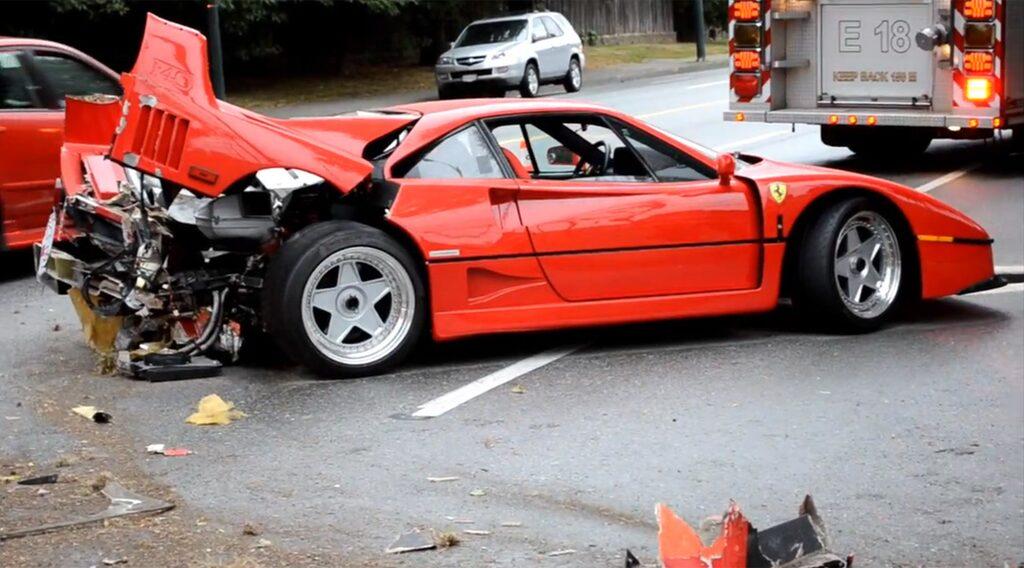 Kraschad Ferrari F40