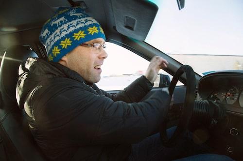 Med Tärnabymössan på kan vem som helst passera som en vintersportare. Så även Linus.