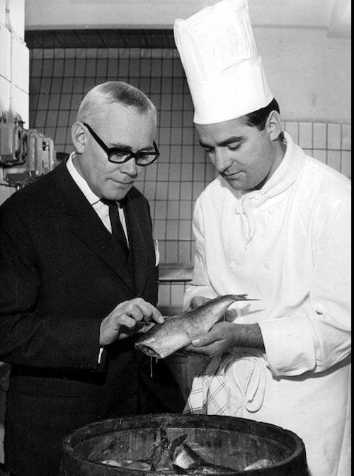 Tore Wretman – den svenska gastronomins fader. Foto: TT