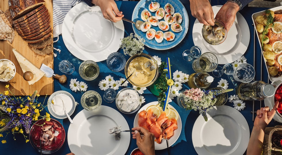 Swedish summer Midsommar Midsummer celebration dinner party