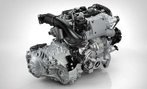 T6-motorn i kombination med Volvos åttastegade automatlåda.