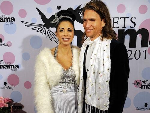 Komikern Zinat Pirzadeh med sin nya kärlek, musikern Knut Berggren.