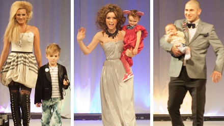 Stjärnor på catwalken 2010: Laila Bagge, Alexandra Pascalidou, Markoolio - och deras barn!