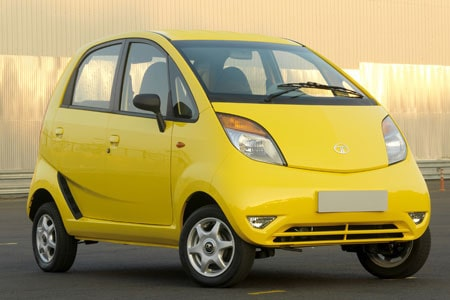 Tata Nano i deluxe-version.