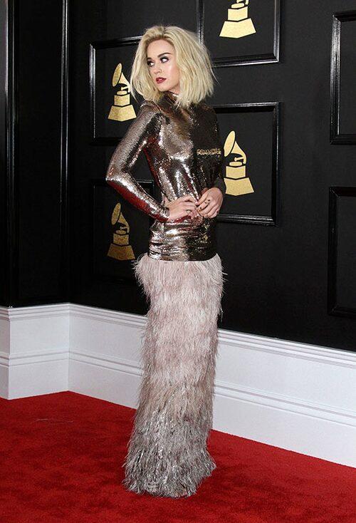 Katy Perry i klänning från Tom Ford. Foto: IBL