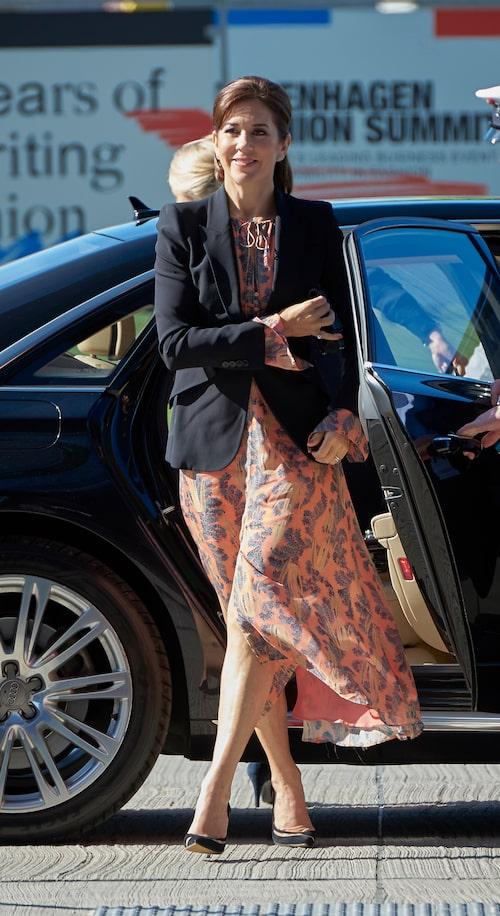 Kronprinsessan mary av Danmark på konferens om hållbart mode i Köpenhamn.