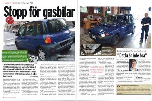 Förra hösten larmade vi om gasbilsidiotin. Ministern lovar nya regler.