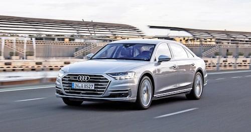 Dagens Audi A8 innehåller självkörande teknik enligt nivå 3, men den används inte.