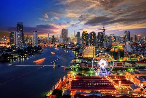 Bangkok är en stad med högt tempo.