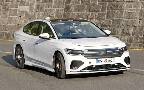 Import av Passat från Kina till Tyskland? Nope, Volkswagen har maskerat denna elbil för att efterlikna just en kinesisk Passat (som inte ser ut som den vi har i Europa).