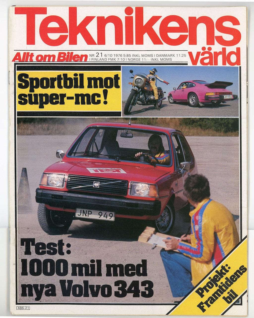 Första testet av den nya Volvon. Det blev 5 000 mil.