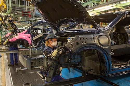 Produktion i Fords Valencia-fabrik.
