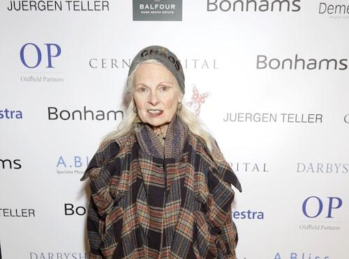 Designern Vivienne Westwood, en av Anjas stilfavoriter.