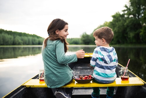 Jordgubbar är aldrig fel på picknicken.