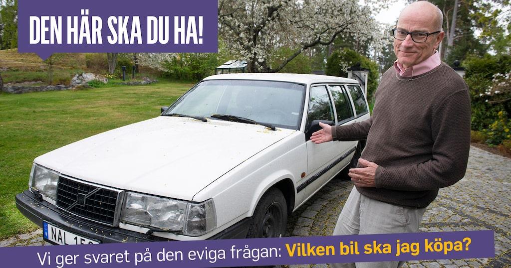 Mikael Stjerna med sin statusbil. Visst är han lite högfärdig?