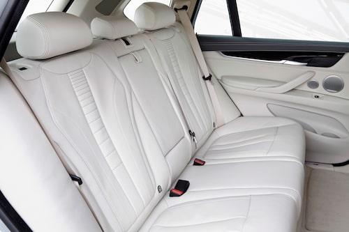 Längre bak än så här kommer du inte i denna BMW X5. Det finns inte möjlighet till tredje sätesrad.