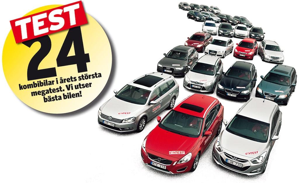 Sverigemästaren – test av 24 kombibilar