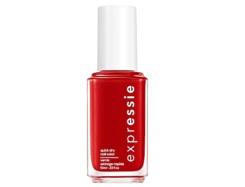 Rött nagellack som torkar på under en minut.