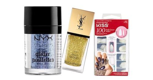 Produkterna som ger dig snygga glittriga naglar.