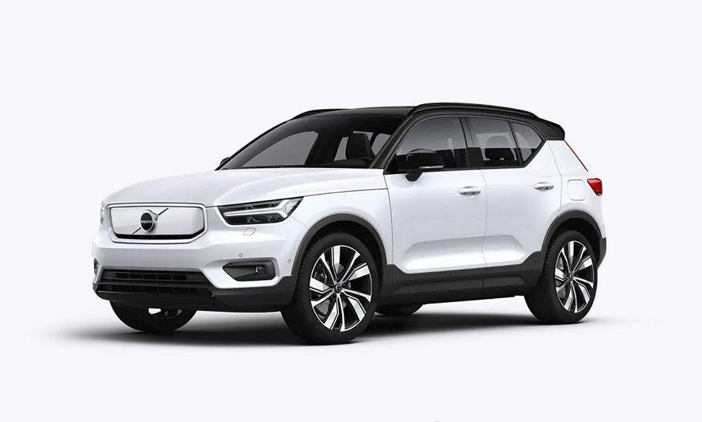 Volvo XC40 Recharge Crystal White Pearl