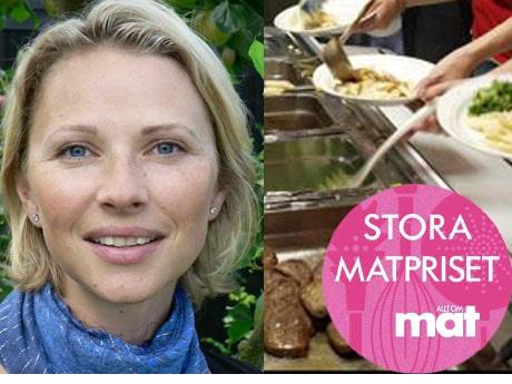 Annika Unt Widell får Stora Matpriset 2011.