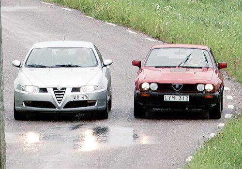 Alfa Romeo GT 3,2 2005 mot Alfa Romeo GTV 6 2,5 1983