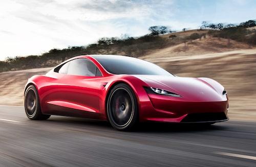 Än så länge får vi bara se den på bild, men om 2-3 år är det tänkt att nya Tesla Roadster ska rulla på vägarna. Då kan den komma att få motstånd från kroatiska Rimac.