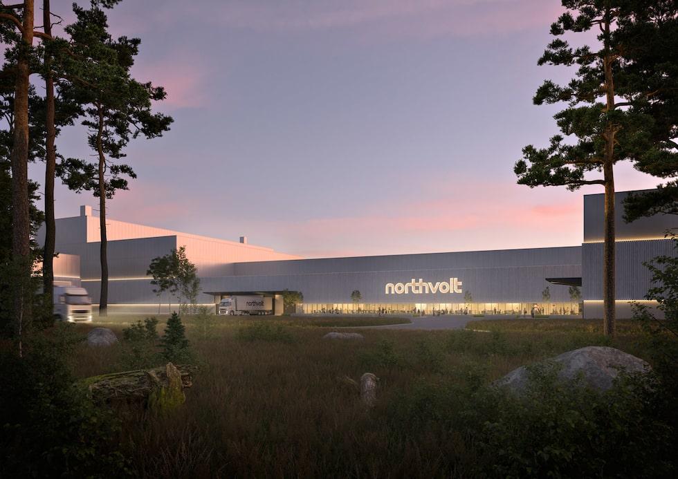 Northvolts blivande batterifabrik i Skellefteå.