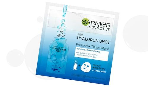 Hyaluron shot freshmix tissue mask, Garnier.