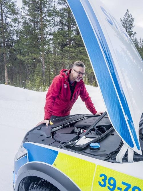Volvo D5 AWD-drivlina innebär 235 hästkrafter och god framkomlighet.