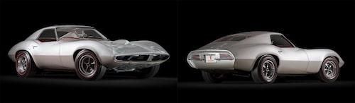 Konceptbilen Pontiac Banshee från 1964 som togs fram av John DeLorean, som då var chef för Pontiac, för att konkurrera med Ford Mustang. GM hittade andra sysslor till DeLorean och tog formerna från Pontiac Banshee och skapade Corvette generation C3. Nu ser vi några av detaljerna igen, denna gång på Bo Zollands illustrationer.