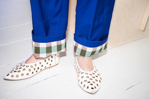 """""""Byxor och skor från Céline."""""""