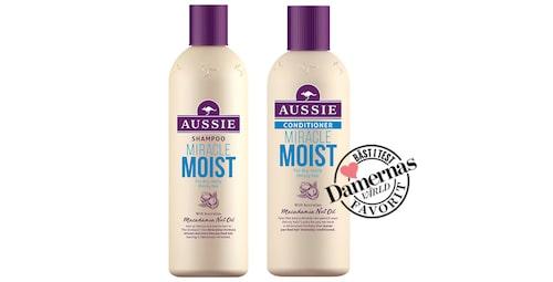 Recension av Miracle moist schampo och balsam från Aussie.
