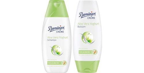 Recension på Aloe vera yoghurt schampo och balsam från Barnängen.