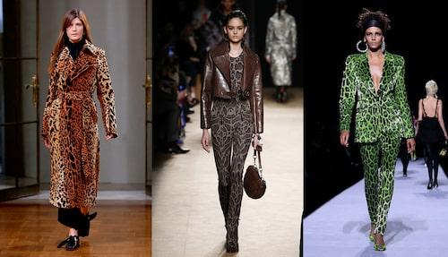 Leopardmönstrat hos Victoria Beckham, Roberto Cavalli och Tom Ford.