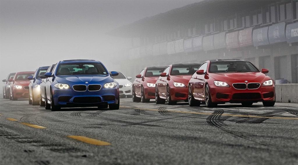BMW M5 och M6 på Laguna Seca