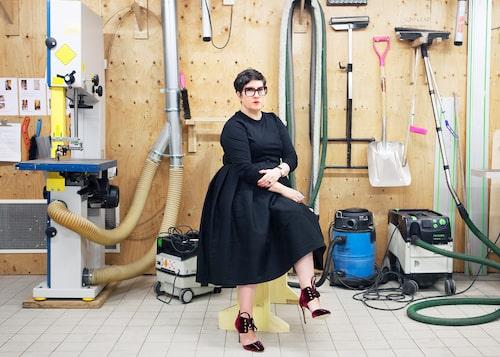 Karin Ericsson Wärn är rektorn på Beckmans Designhögskola som älskar färgstarka skor.