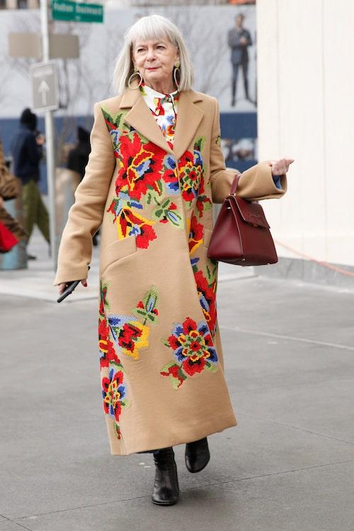 Lyn Slater blev upptäckt av en slump då hon misstogs för att vara en modeikon på New York Fashion Week.