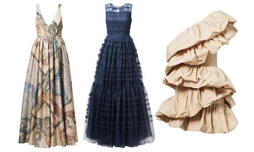Aftonklänningar från H&M Conscious exclusive våren 2020.