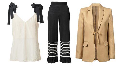 Volanger och knytdetaljer i H&M:s hållbara kollektion.