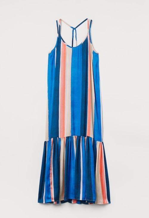 Randig maxiklänning från H&M.