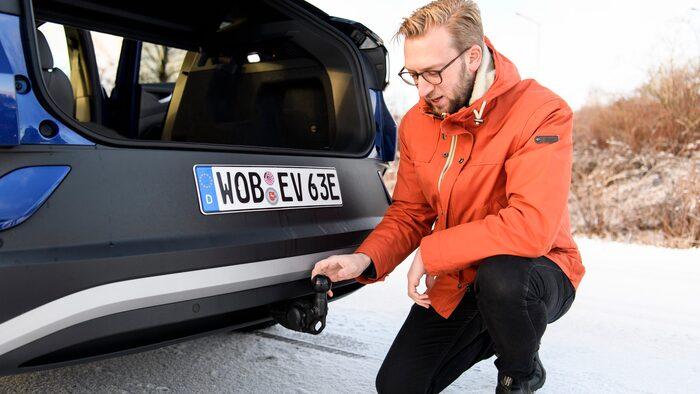 Dragkrok, efterlängtat av Volkswagen ID-spekulanterna.