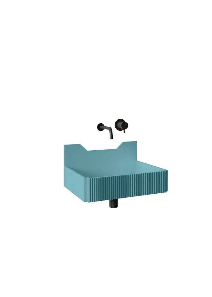 3. Frieze two lined washbasin har räfflad främre textur, kan användas fristående eller med kommod och finns i flera färger i Calacattamarmor eller Livingtec, från 1 779 euro, från Ex.t.