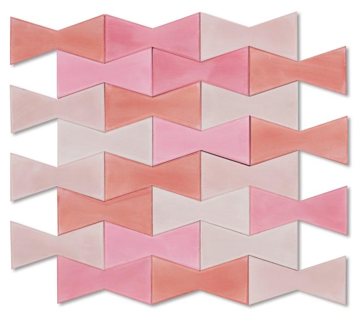7. Rosettformade kaklet Bow tie, 20 x 10 cm, Popham.