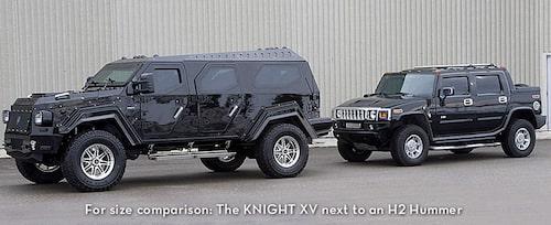 Redan stora Hummer H2 ser i sammanhanget lite klen ut.